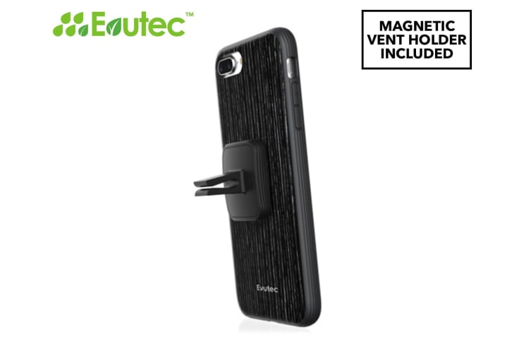 outlet store 9da07 95fbe Evutec AER Series iPhone 7/8+ Wood Cover w/ AFIX Magnetic Mount - Black  Apricot