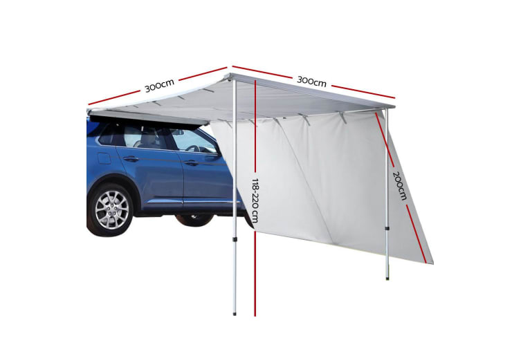 Weisshorn 3MX3M Car Side Awning Extension Roof Rack Cover ...