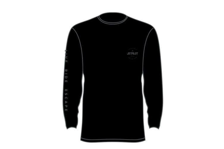 JetPilot Corp L/S Youth Hydro Tee - Black - 14