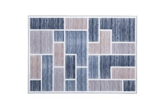 Artiss Floor Rugs 120x170 Short Pile Area Rug Large Modern Carpet Soft Grey