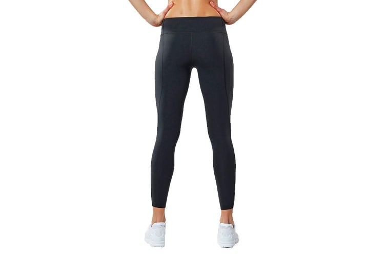 2XU Women's Active Compression Tights (Dark Charcoal/Silver, Size XL)