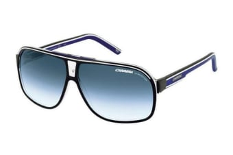 Carrera GRAND PRIX 2 - Shiny Black (Blue lens) Unisex Sunglasses