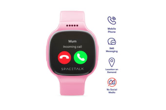 SPACETALK Kids Smartwatch with Phone and GPS (Pink)