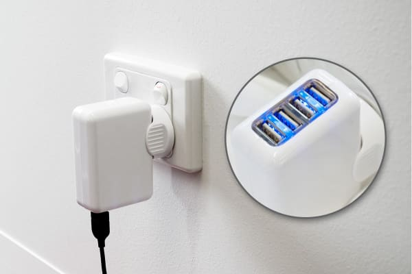 Kogan 4-Port USB Rapid Travel Charger