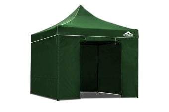 3x3 Pop Up Gazebo Hut with Sandbags (Green)