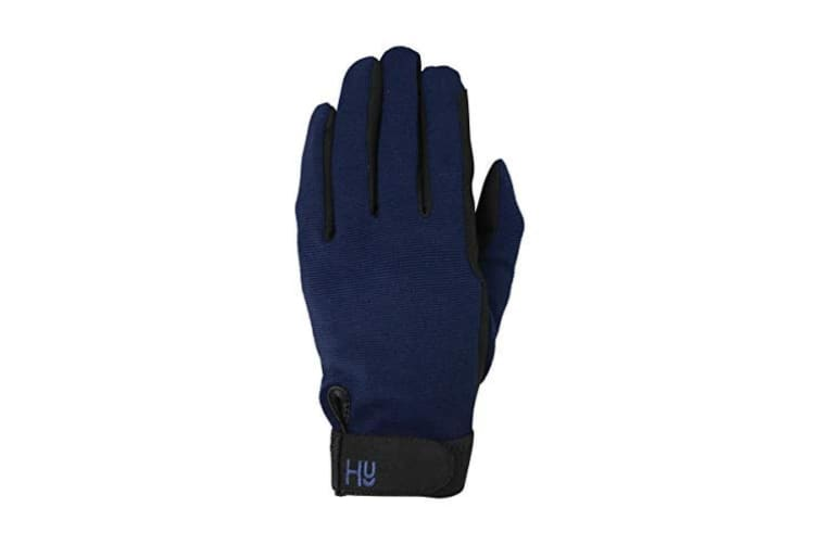 Hy5 Adults Universal Two Toned Riding Gloves (Black/Navy) (M)