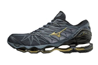 Mizuno Men's WAVE PROPHECY 7 Running Shoe (Ombre Blue/Gold/Black, Size 9 US)