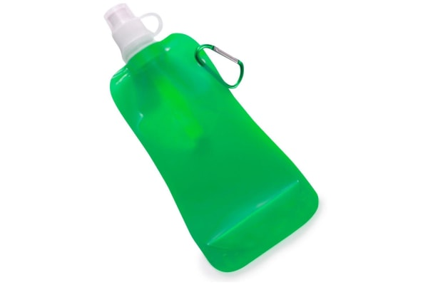 4x Doozie 450ml Collapsible Camping Water Drink Bottle Gym Sport Green Black