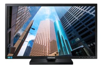 Samsung 24' E45  WIDE (16:9) PLS LED, 1920x1080, 5MS, D-SUB, DP, DVI, Height Adjust, VESA, 3YR