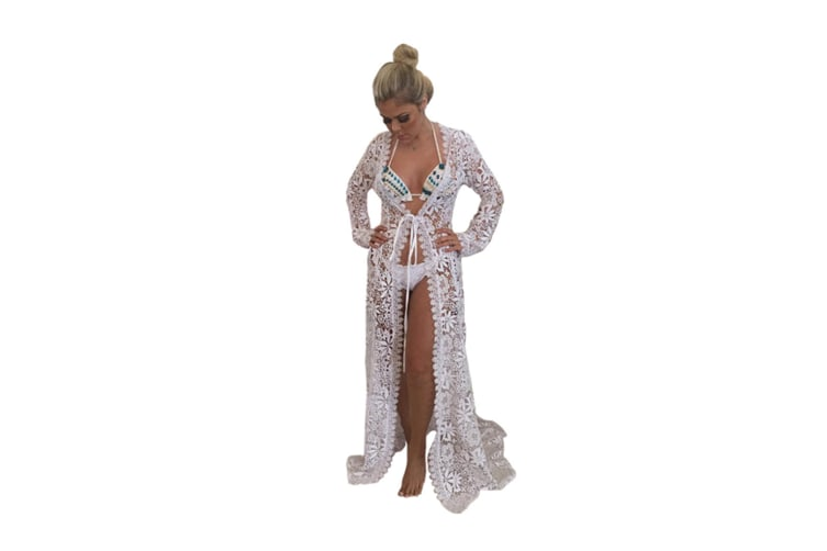 Bikini Cover Up Women Beach Wears For Summer Holiday Vocation White L