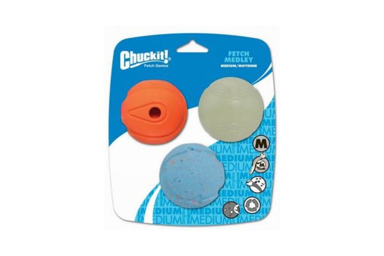 Chuckit Fetch Medley Medium 3 Pack