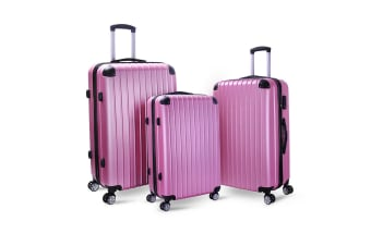 Milano Slimline Luggage 3 Piece Set (Rose Gold)