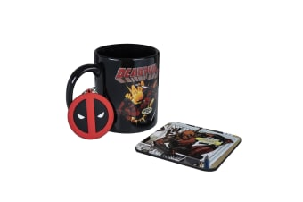 Deadpool Mug And Coaster Set (Red) (One Size)
