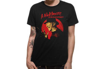 A Nightmare On Elm Street Adults Unisex Freddy Krueger Pose Design T-Shirt (Black)