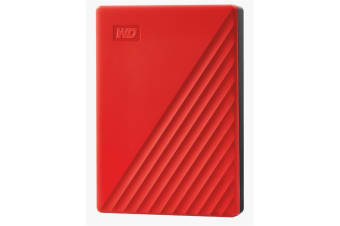 """WD My Passport 4TB 2.5"""" USB 3.0 Portable External HDD - Red Colour"""