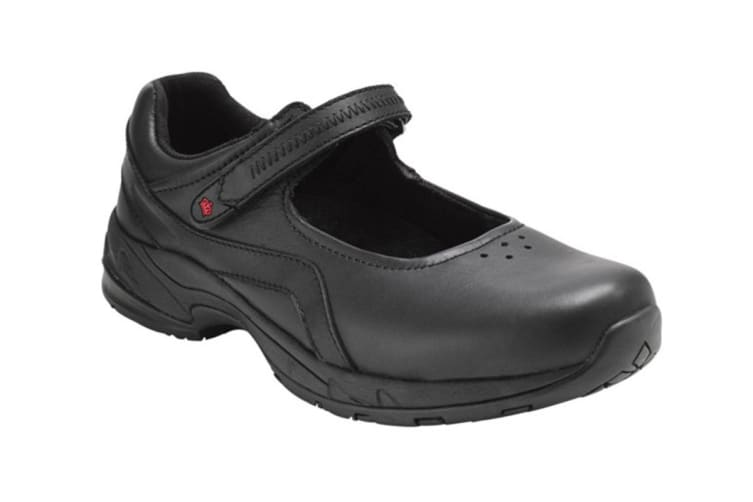 King Gee Women's Chisholm Mary Jane Shoe (Black, Size 7)