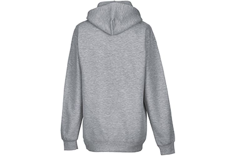 Russell Colour Mens Hooded Sweatshirt / Hoodie (Light Oxford) (L)