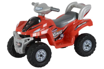 Safari King Electric Ride-On ATV Bike Kids Toy Quad Car Rechargeable Battery - Red
