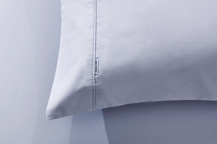Gioia Casa 400TC Bamboo Cotton Fitted Sheet Combo (Silver, King)