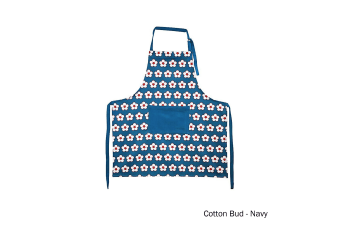 Cotton Bud Apron Navy by IDC Homewares