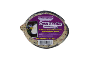 Suet To Go Half Coconut Feeder (Insect) (One Size)