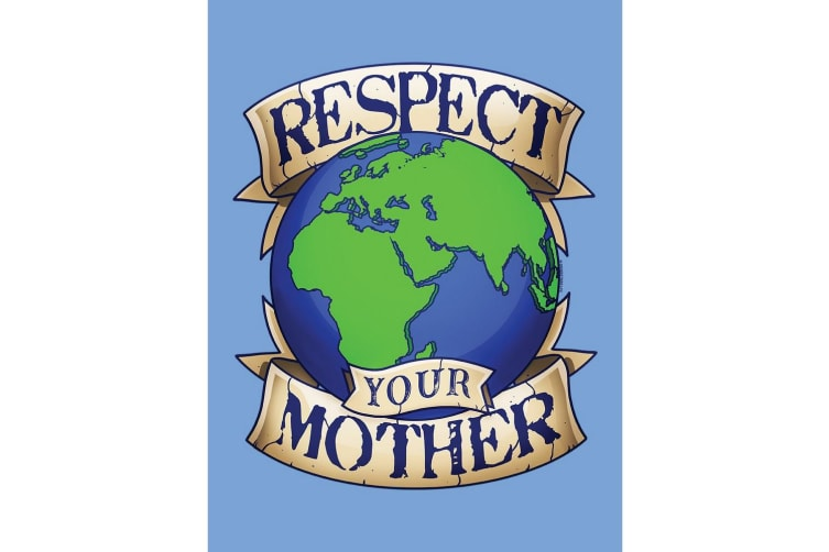 Grindstore Respect Your Mother Earth Tote Bag (Sky Blue) (One Size)