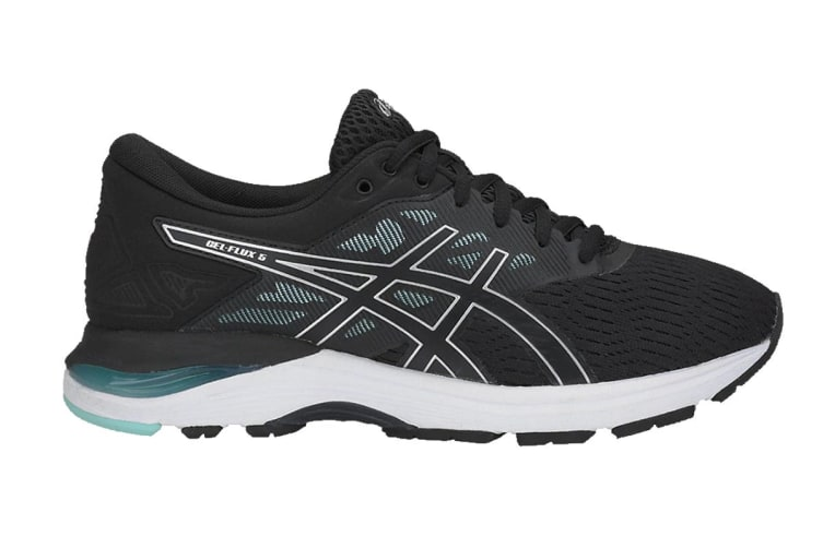 ASICS Women's GEL-Flux 5 Running Shoe (Black/Silver, Size 6.5)