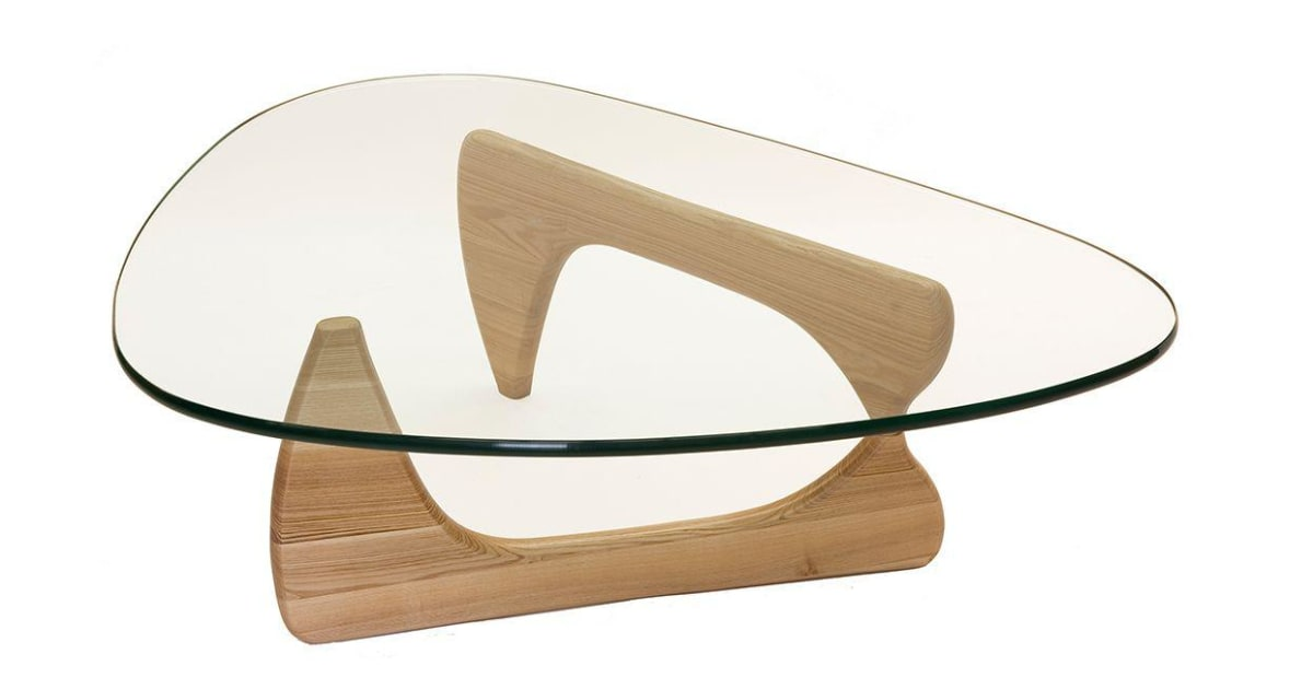 Replica Isamu Noguchi Glass Coffee Table Natural Coffee Tables