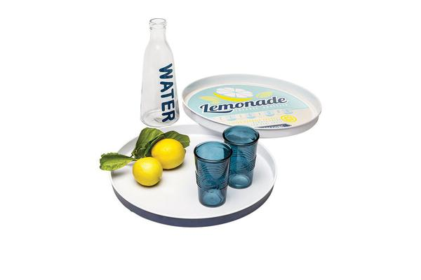 Retro Kitchen Entertaining Tray Navy