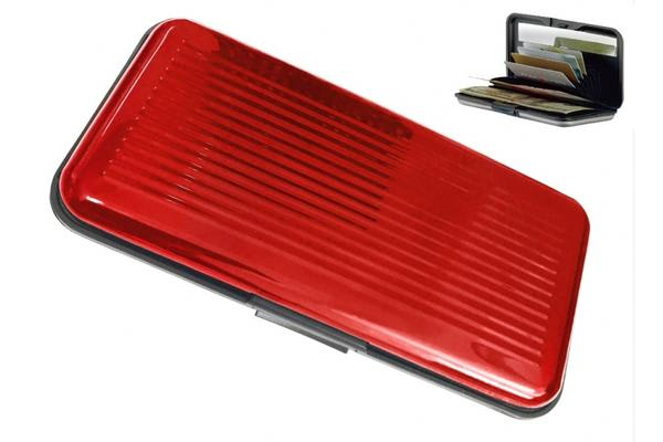 Jumbo Security Card Wallets Red