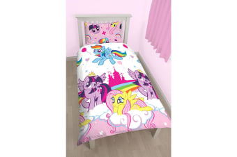 My Little Pony Childrens/Kids Reversible Duvet Set (Pink) (Single)