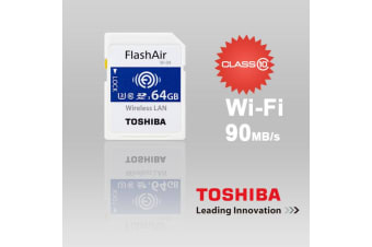Toshiba 64GB THN-NW04W0640C6 FlashAir SDHC W-4 CL10 (New) 90R 70W