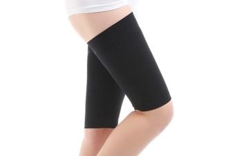 Elastic Breathable Stretch Skinny Leg Weight Loss Wrap Belt Massager Slimming Thigh Leg Shaper Compression Socks Burn Fat Thin Leg Socks for Women Lady L