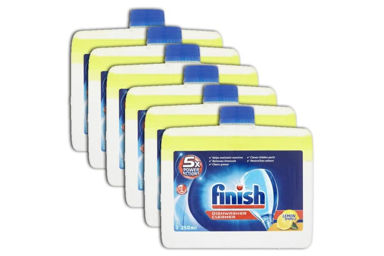 6PK Finish Dishwasher Monthly Cleaner/Remove Grease/Limescale - Lemon Sparkle