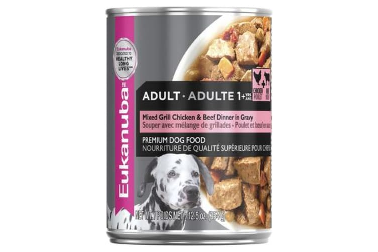 Eukanuba Adult Chicken Beef Cans - 12 Cans