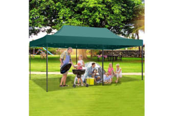 3X6M Pop Up Folding Gazebo Outdoor Marquee Party Canopy GREEN