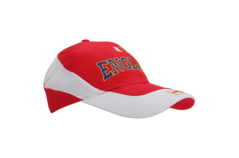 ProClimate Mens Embroidered England Baseball Cap (White/Red)