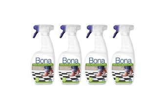 4PK Bona 1L Stone Tile & Laminate Spray Maintenance for Floors/Surface Cleaning
