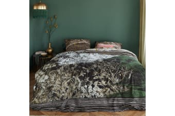 Tales Black Cotton Quilt Cover Set by At Home