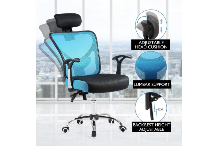 Pleasing Reclining Mesh Ergonomic Office Computer Chair Blackblue Office Chairs Ncnpc Chair Design For Home Ncnpcorg