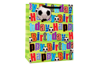 Simon Elvin Fotball Design Happy Birthday Gift Bags (Pack Of 6) (Multicoloured)