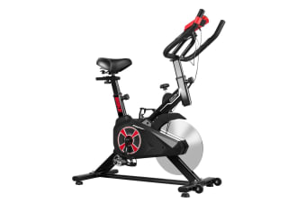 Genki Gym Spin Bike Exercise Cycle Cardio Training Black