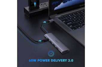 UGREEN TypeC 5 in 1 Adaptor - HDMI + USB 3.0*3 + TypeC PD Power Converter (50209)
