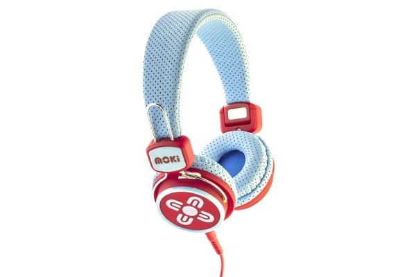 Moki Kids Safe Over Ear Headphones - Blue/Red (ACCHPKSBR)