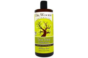 Dr. Woods Tea Tree Castile Soap with Fair Trade Shea Butter - 946 ml