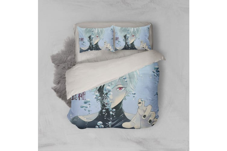 3D Anime Mask Ghoul Quilt Cover Set Bedding Set Pillowcases 60-Single