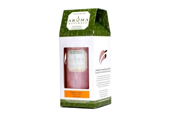 Aroma Naturals Authentic Aromatherapy Candles - Clarity (Orange & Cedar) ((2.75x5) inch)