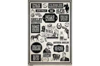 Peaky Blinders Vintage Style Infographic Poster (White/Black) (One Size)