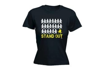 123T Funny Tee - Stand Out Horse Ride - (X-Large Black Womens T Shirt)