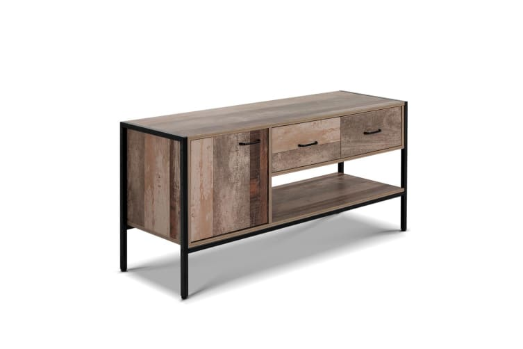 Artiss TV Stand Entertainment Unit Cabinet Storage Metal Wooden Industrial Rustic 120cm